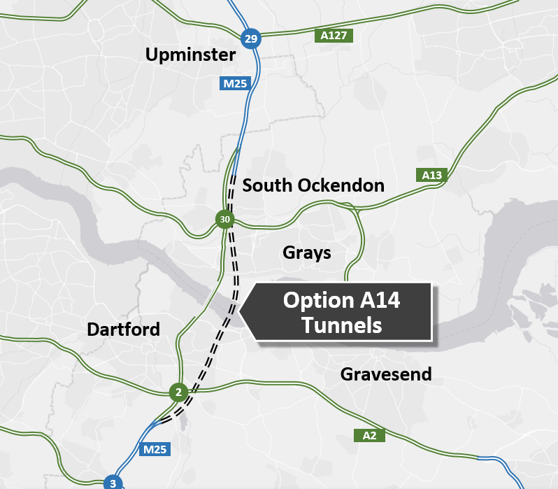 Option A14 Route