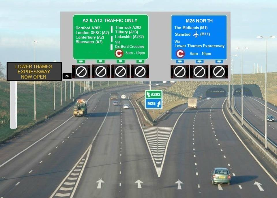 Artist's impression of Lower Thames Expressway southern portal